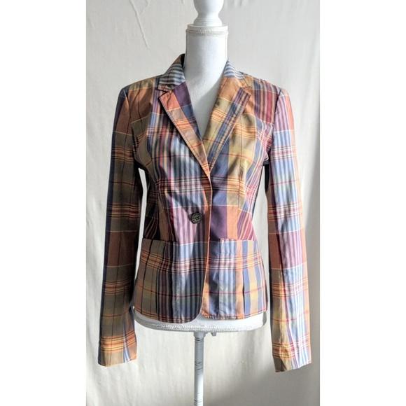 9bb24cb3 Tommy Hilfiger Jackets & Coats | Pastel Plaid Blazer | Poshmark